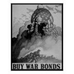 Uncle Sam WPA World War 2 War Bonds Ads Poster