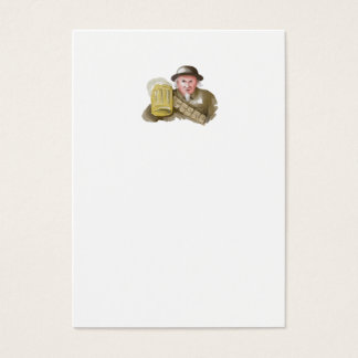 Uncle Sam WW1 Soldier Toasting Beer Watercolor Business Card