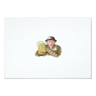 Uncle Sam WW1 Soldier Toasting Beer Watercolor Card