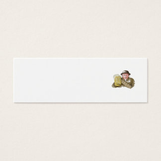 Uncle Sam WW1 Soldier Toasting Beer Watercolor Mini Business Card