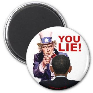 Uncle Sam You Lie 2 Inch Round Magnet