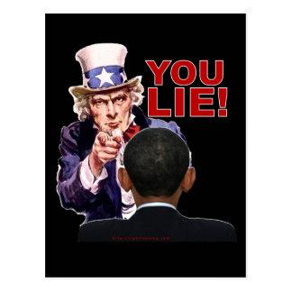 Uncle Sam You Lie Postcard
