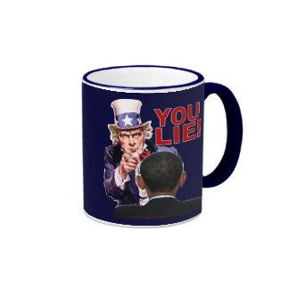 Uncle Sam You Lie Ringer Coffee Mug