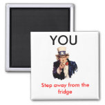 Uncle_Sam_, YOU, Step away 2 Inch Square Magnet