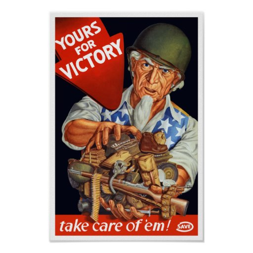 Uncle Sam -- Yours For Victory -- WWII Poster | Zazzle
