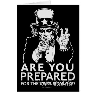 Uncle Sam Zombie Apocalypse Cards