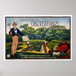 Uncle Sam's Garden, 1917. Vintage Advertising Poster
