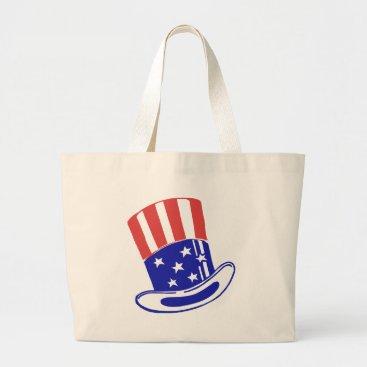 Uncle Sam's Hat Large Tote Bag