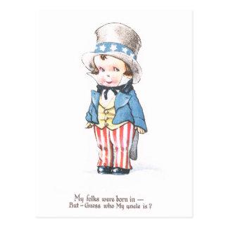 Uncle Sam's Nephew Postcard