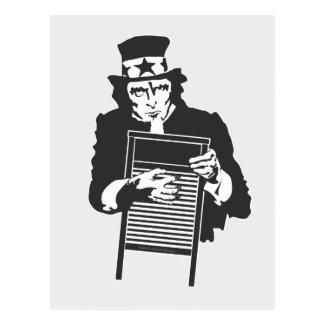 Uncle Sam's Washboard Postcard