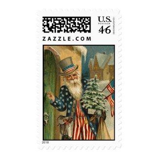 Uncle Santa - Vintage Art - Postage Stamp stamp