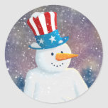 Uncle S'man Round Stickers