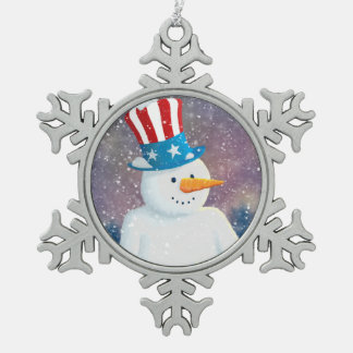 Uncle S'man Snowflake Pewter Christmas Ornament