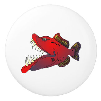 """Uncle Steevo"" Fish with Attitude Ceramic Knob"