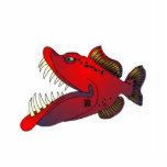 """""""Uncle Steevo"""" Fish with Attitude Photo Sculpture Button"""