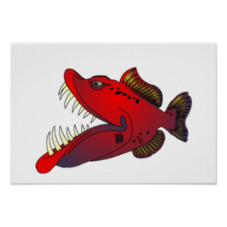"""""""Uncle Steevo"""" Fish with Attitude Poster"""