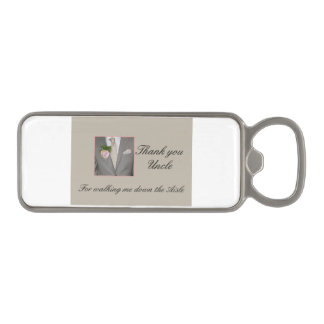Uncle    Thanks for Walking me down Aisle Magnetic Bottle Opener