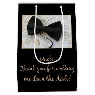Uncle    Thanks for Walking me down Aisle Medium Gift Bag