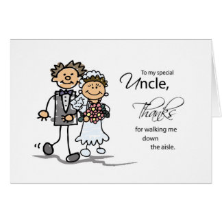 Uncle, Thanks for Walking Me Down the Aisle Man Card