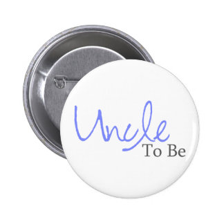 Uncle To Be (Blue Script) Buttons