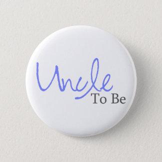 Uncle To Be (Blue Script) Pinback Button