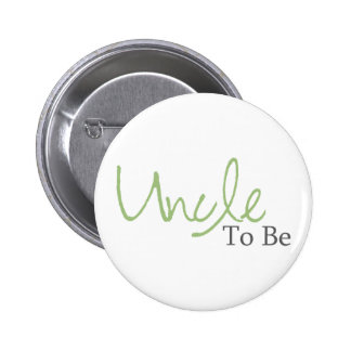 Uncle To Be (Green Script) 2 Inch Round Button
