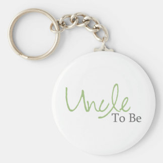 Uncle To Be (Green Script) Keychain