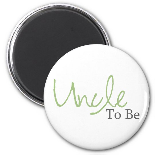 Uncle To Be (Green Script) Magnet