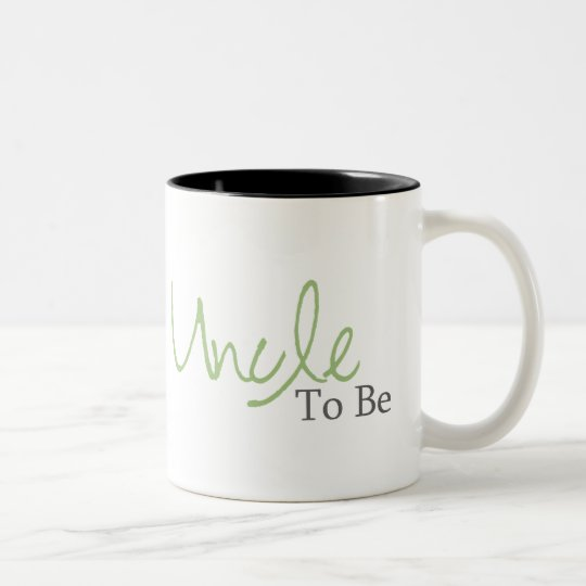 Uncle To Be (Green Script) Two-Tone Coffee Mug