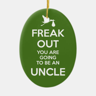 Uncle-to-Be Pregnancy Announcement Christmas Ceramic Ornament