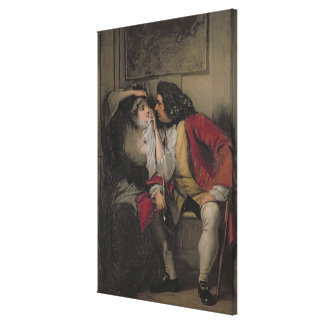 Uncle Toby and Widow Wadman Canvas Print
