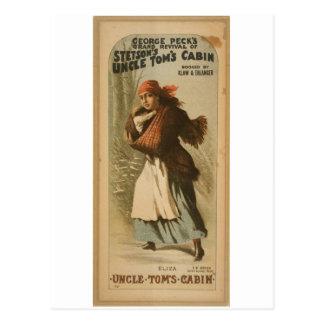 Uncle Tom's Cabin,  'Eliza' Retro Theater Postcard
