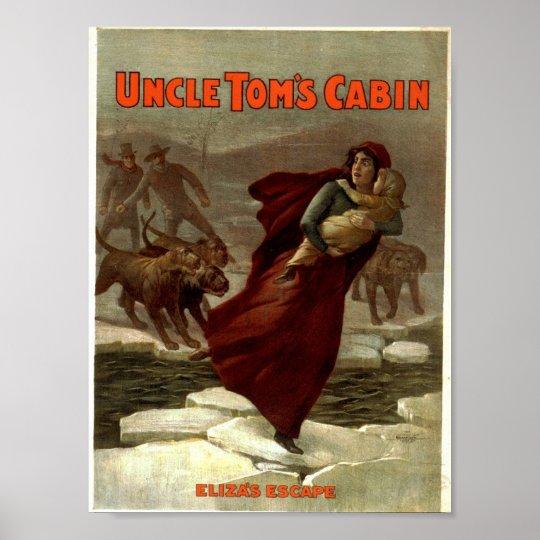 Uncle Tom S Cabin Eliza S Escape Vintage Theate Poster