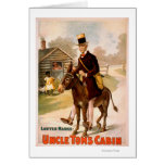 Uncle Tom's Cabin Man and Donkey Theatre Greeting Card