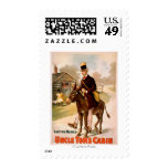 Uncle Tom's Cabin Man and Donkey Theatre Postage Stamp