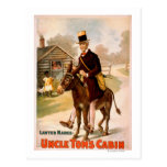 Uncle Tom's Cabin Man and Donkey Theatre Postcards