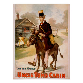 Uncle Tom's Cabin Man and Donkey Theatre Posters