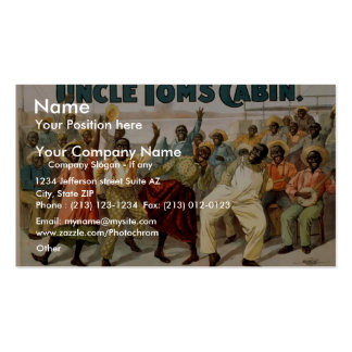 Uncle Tom's Cabin, 'On the Levee' Vintage Theater Double-Sided Standard Business Cards (Pack Of 100)