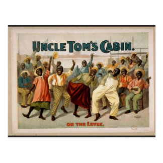Uncle Tom's Cabin, 'On the Levee' Vintage Theater Postcard