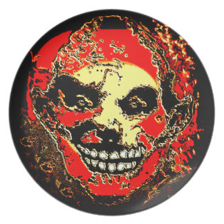 """Uncle Tony Neon Tri Fire """"The Family"""" by Valpyra Melamine Plate"""