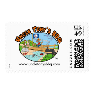 Uncle Tony's BBQ (Cartoon) 1st Class Postage Stamp