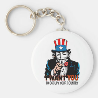 Uncle V Occupy Wall Street Keychain