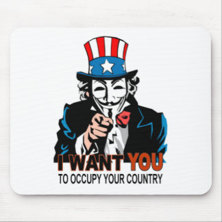Uncle V Occupy Wall Street Mouse Pad