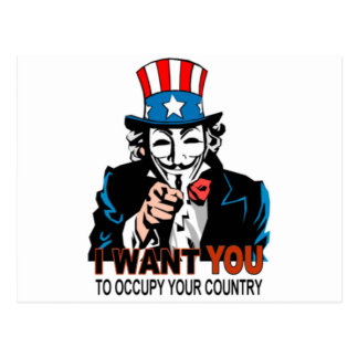 Uncle V Occupy Wall Street Postcard
