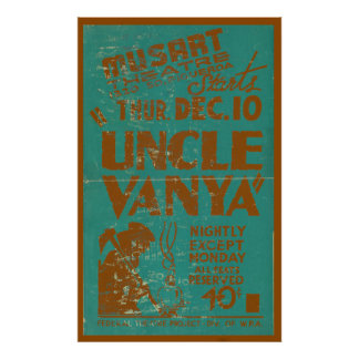 Uncle Vanya Vintage Theatre Poster