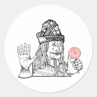 Uncle Vlad has a lollipop Classic Round Sticker