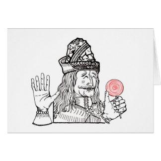 Uncle Vlad has a lollipop Greeting Card