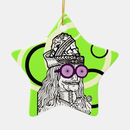 Uncle Vlad the evul ge-nius! Ceramic Ornament