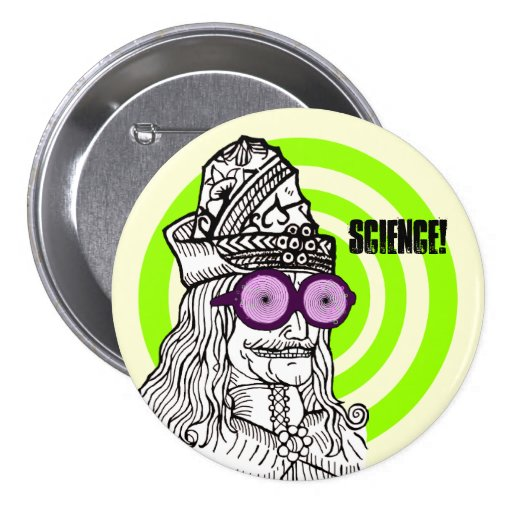 Uncle Vlad the evul ge-nius! Pinback Buttons