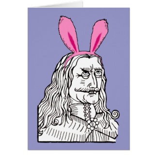 Uncle Vlad with bunny ears Stationery Note Card